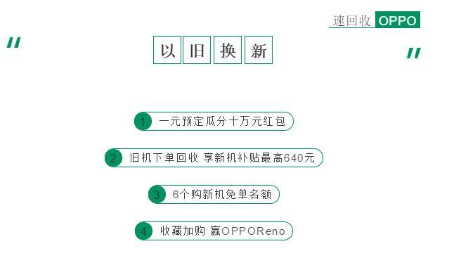 OPPO&速回收 | 以旧换新,补贴高至640元