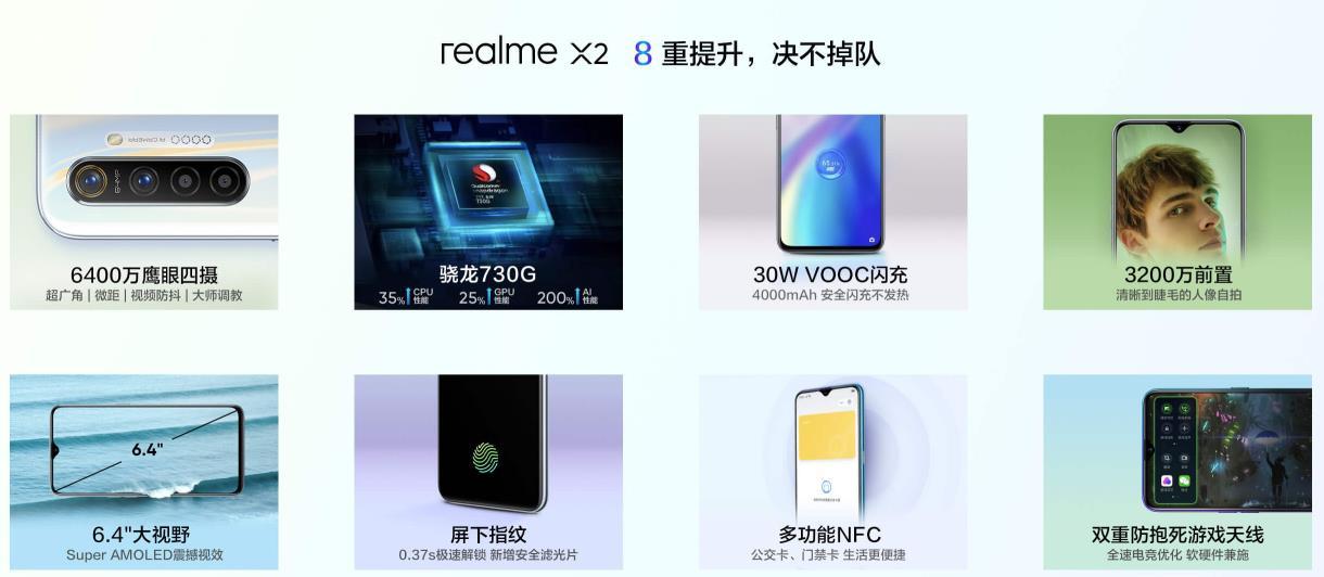 realme X2:骁龙730G+NFC 6400万鹰眼四摄!网友笑称:红米难难难!