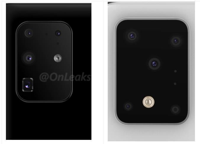 Samsung Galaxy S11+ 新渲染图显示了后置摄像头新排列