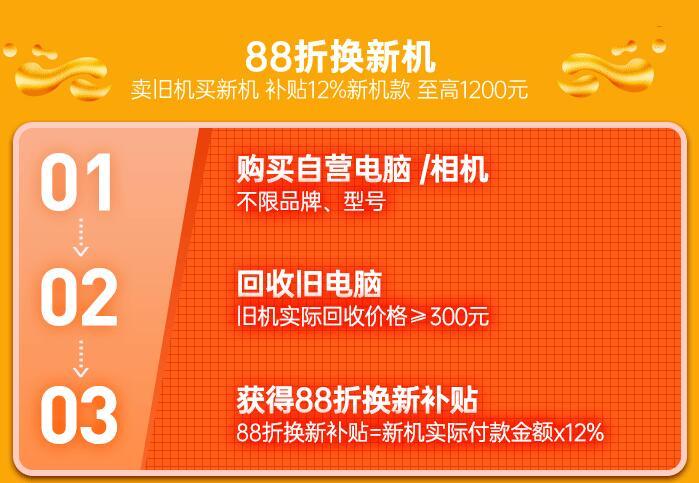 速回收网联合苏宁年终狂欢88折换新机活动